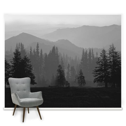 Misty Mountains Ready Made Mural, , large