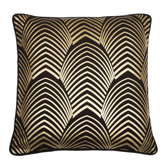 Gatsby Gold & Black Metallic Kussen, , large
