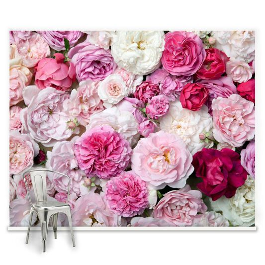 Pink Bouquet Ready Made Mural, , large