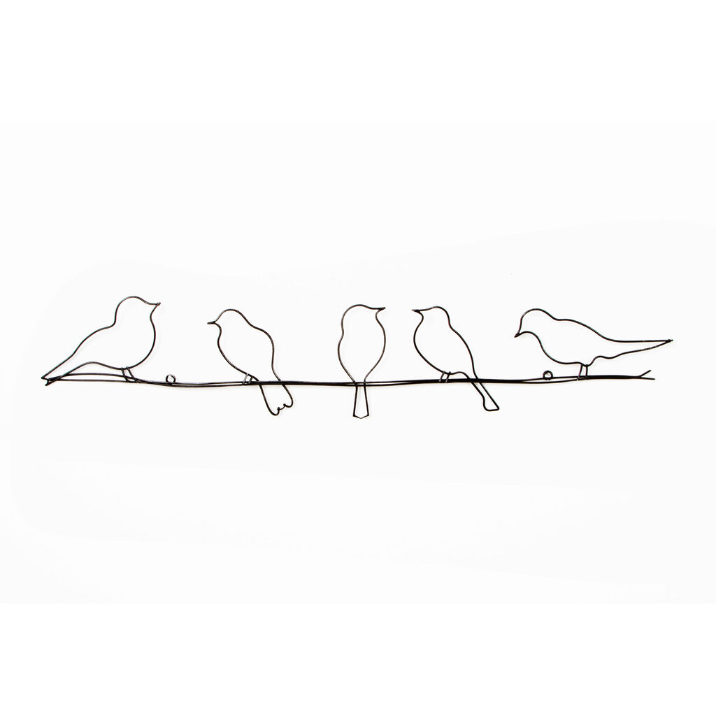 Birds On A Wire Metal Wall Art - GrahamBrownUS