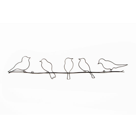 Attractive Birds On A Wire Metal Wall Art - GrahamBrownUS AF63