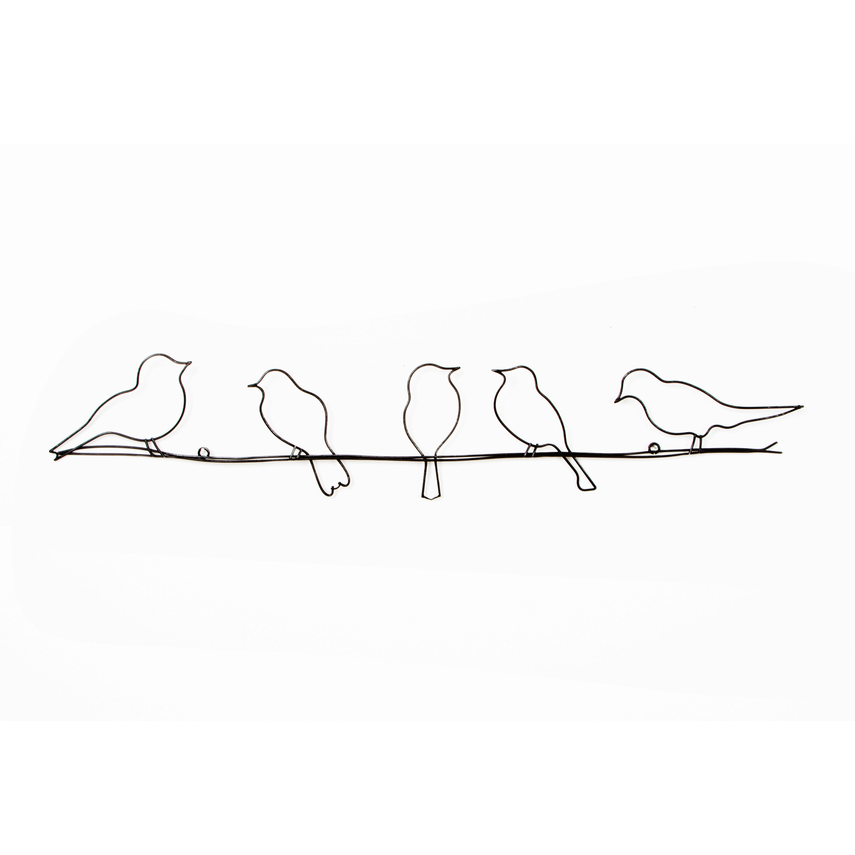 Superb Birds On A Wire Metal Wall Art, ...