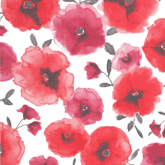 Poppies Red Wallpaper, , large
