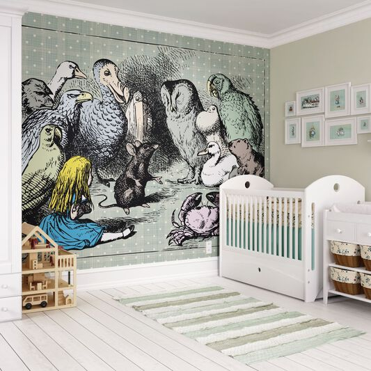 Animal Meeting Wall Ready Made Mural, , large