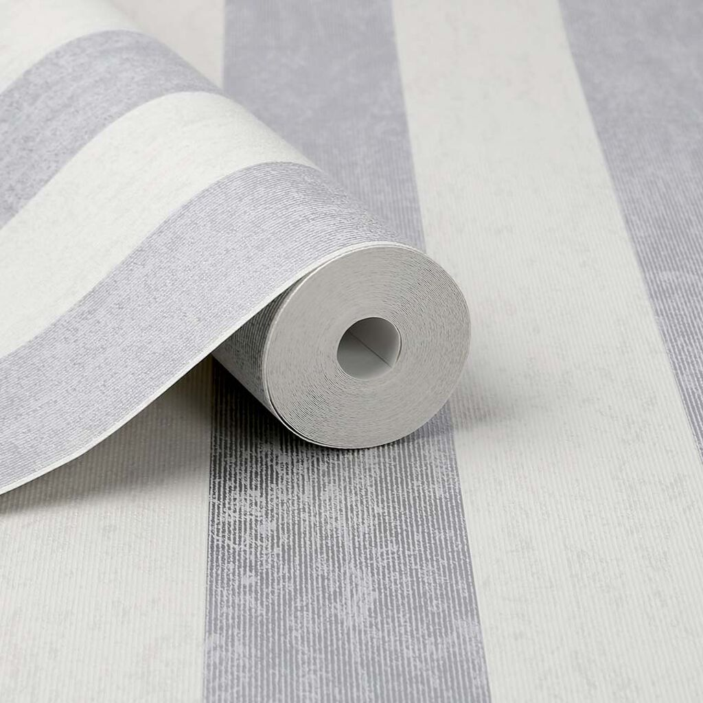 Mercury Stripe Silver Wallpaper, , large