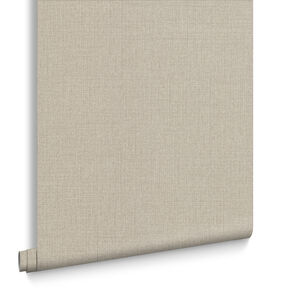 Linen Beige Wallpaper, , large