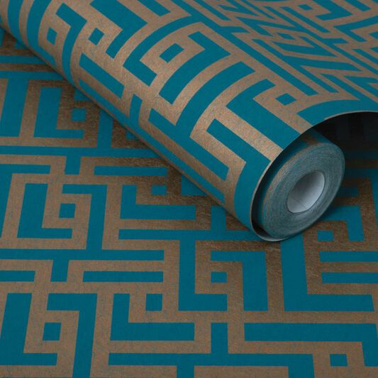 Zen Teal Wallpaper, , large