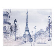 Parisian Street Watercolour Printed Canvas Wall Art , , large