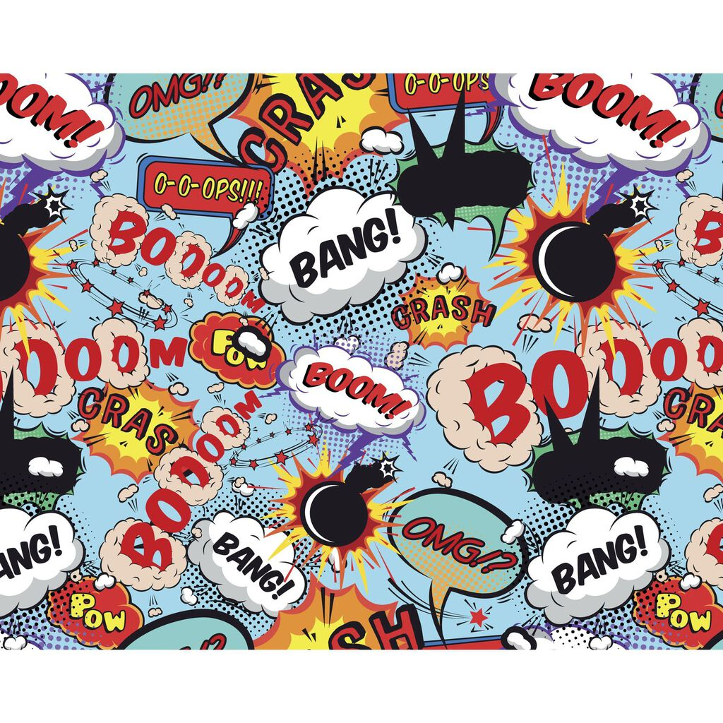 Comic Pop Wall Ready Made Mural, , large