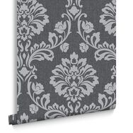 Aurora Black and Gray Wallpaper , , large