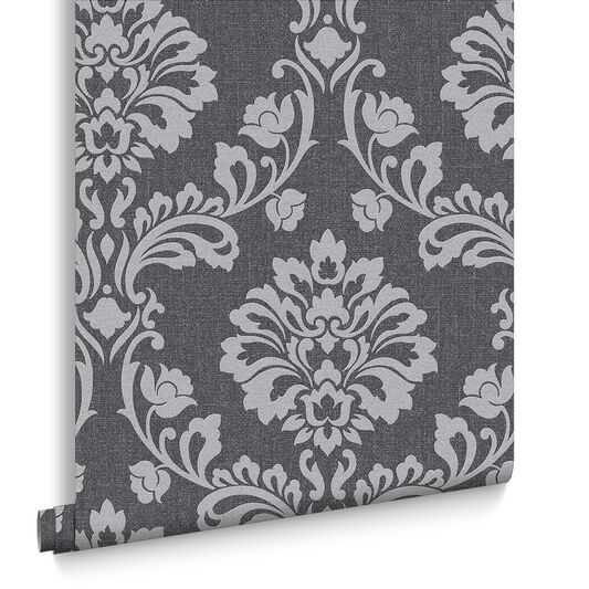 Aurora Black and Grey Wallpaper, , large