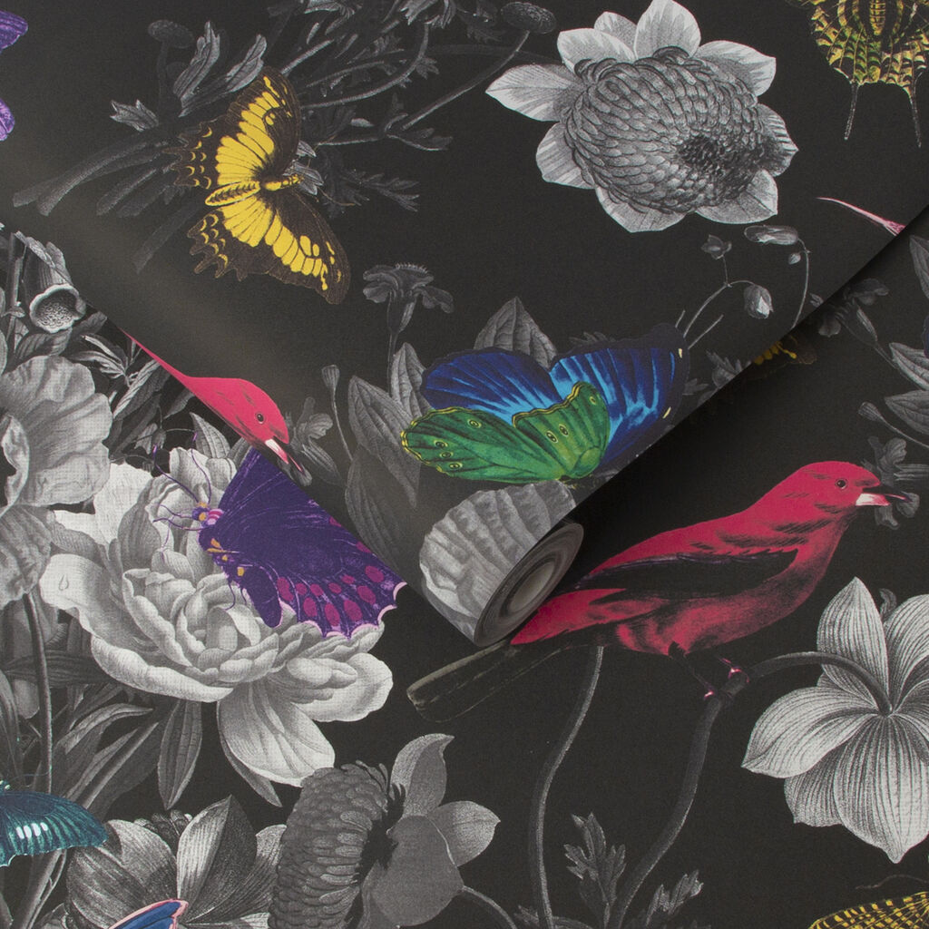 Jardin Black Wallpaper, , large