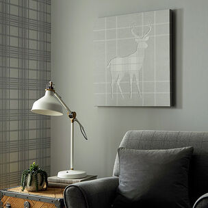 Tartan Stag Silhouette Wall Art, , large