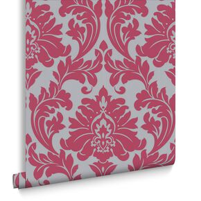 Majestic Hot Pink Wallpaper, , large