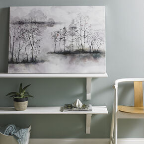 Watercolor Forest Printed Canvas Wall Art, , large