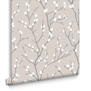Karma Taupe and Charcoal Wallpaper, , large