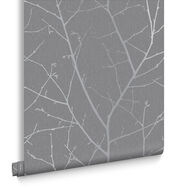 Boreas Deep Grey Wallpaper, , large