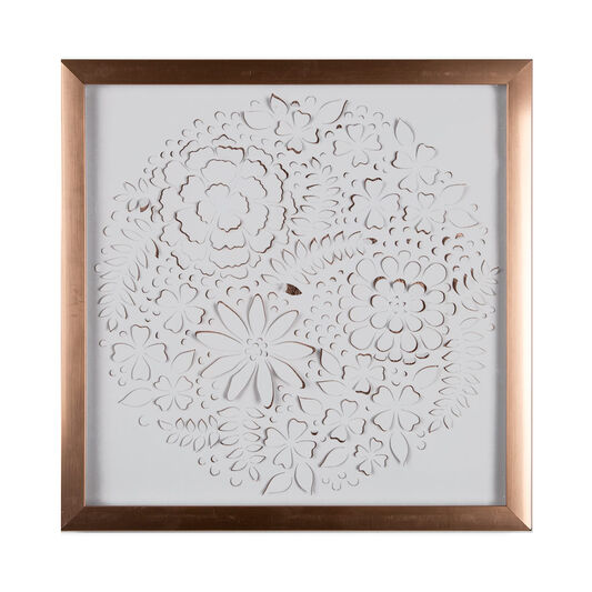 Rose Gold Petals Framed Wall Art - GrahamBrownUS