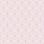 Myrtle Geo Blush & Rose Gold Wallpaper, , large