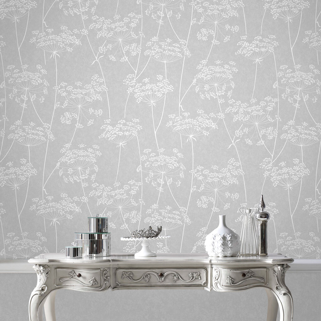 Aura Grey Wallpaper, , large