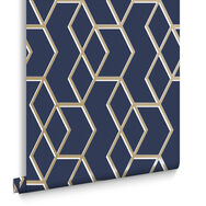 Archetype Tapete Marineblau & Gold, , large