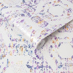 Geo Damask Lilac Wallpaper