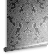 Souk Damask Onyx Wallpaper, , large