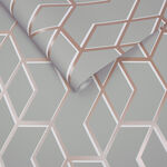 Archetype Gray and Rose Gold Wallpaper