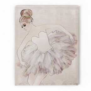 Classic Ballerina Printed Canvas Wall Art , , large