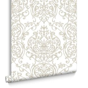 Empress Damask Gold Wallpaper, , large