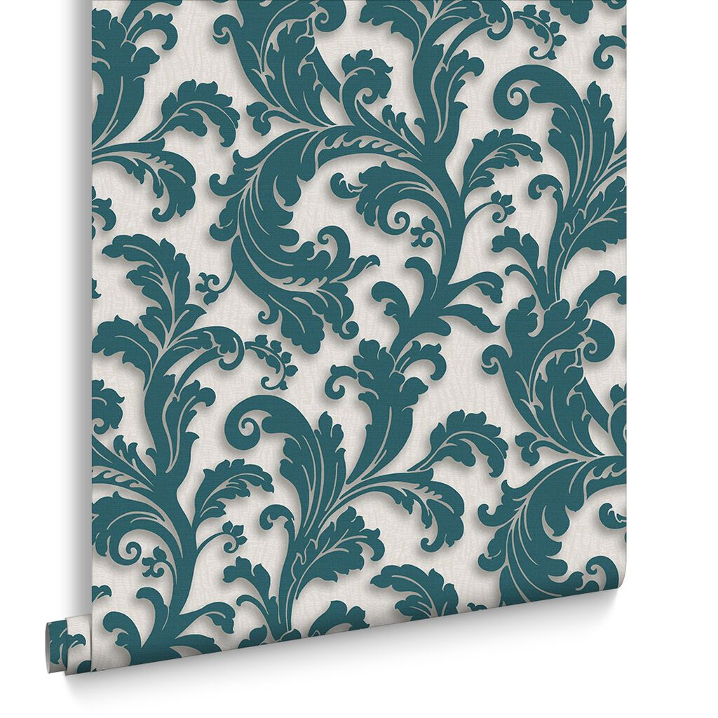 Capulet Teal Behang, , large