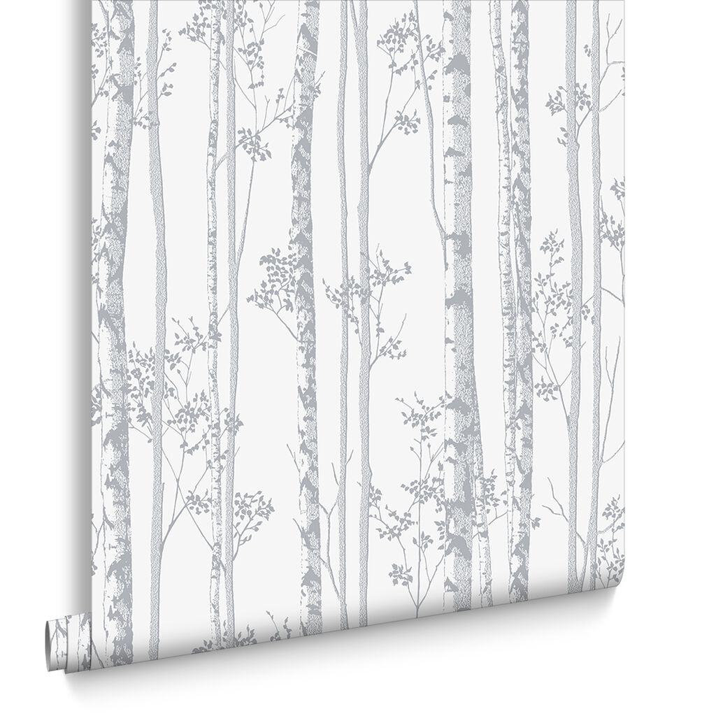 Linden Pearl and Grey Wallpaper, , large