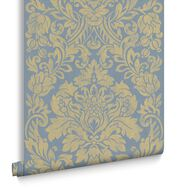 Gloriana Blue Behang, , large
