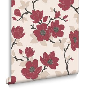 Elinor Red Wallpaper, , large