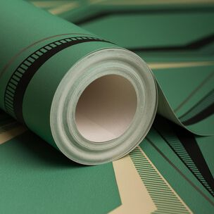 Deco Diamond Green Wallpaper, , large