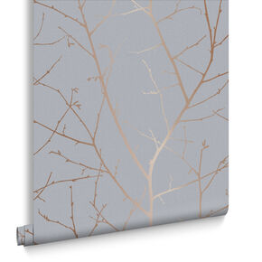 Boreas Soft Grey Wallpaper, , large
