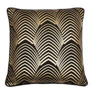 Gatsby Gold & Black Metallic Cushion, , large