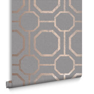 Sashiko Rose Gold Wallpaper, , large