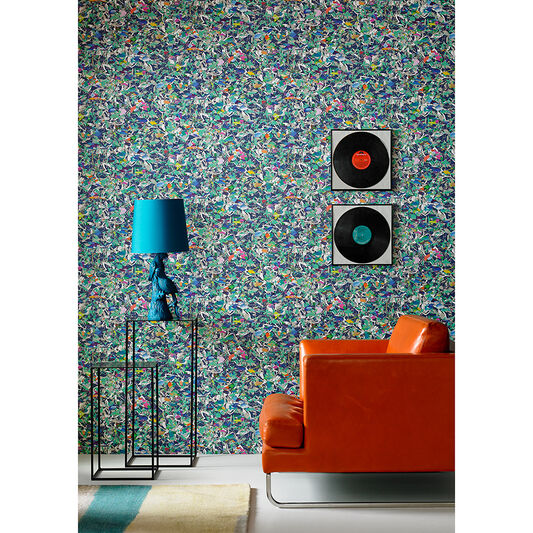 Brian Eno Flower Mask Jade Wallpaper, , large