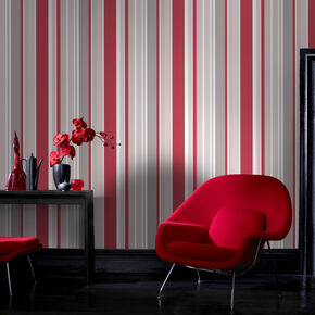 Rico Stripe Red Wallpaper, , large