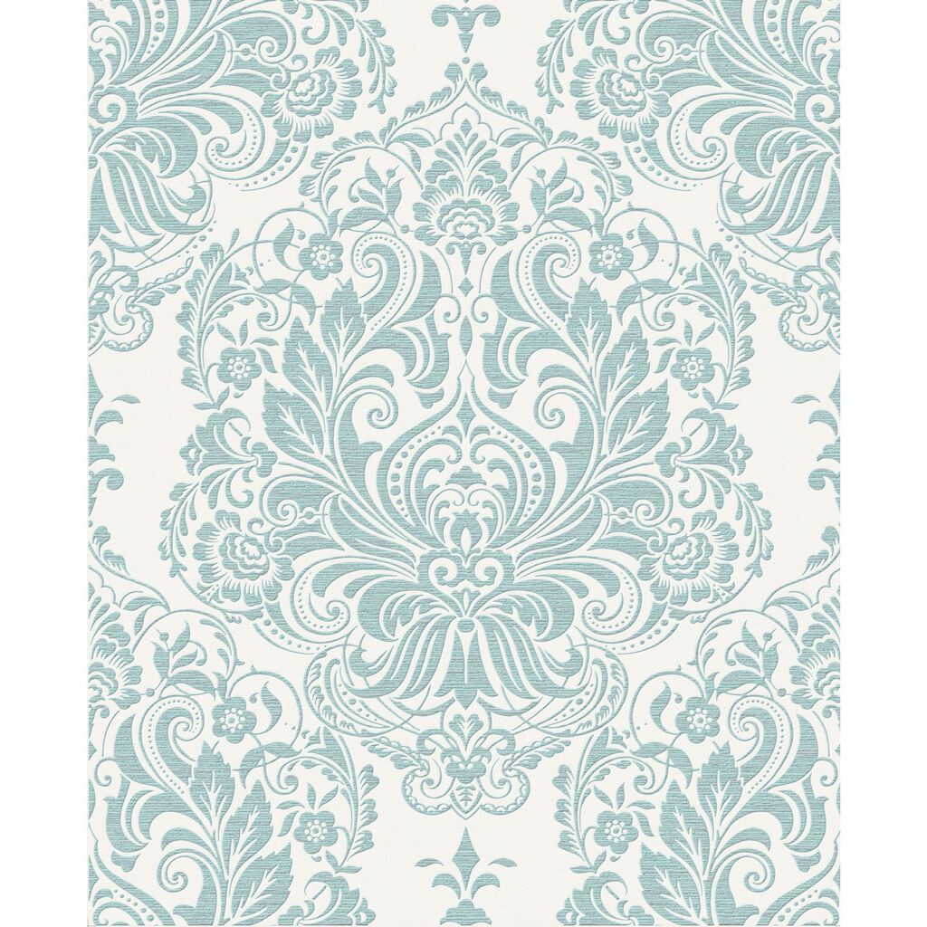 Melody duck egg wallpaper white and blue
