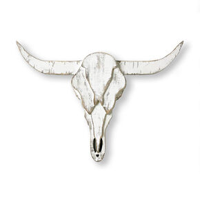 Wood Ram Skull Wall Art, , large
