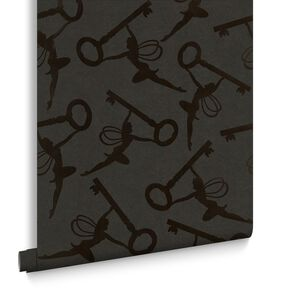 Key Muses Black and Bronze Wallpaper, , large
