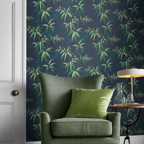 Oriental Bamboo Midnight Wallpaper, , large
