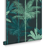 Jungle Mood Green Behang, , large
