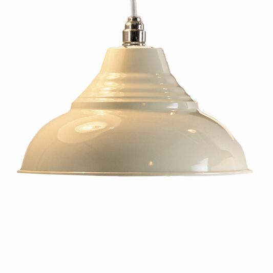 Cream Metal Pendant Shade, , large