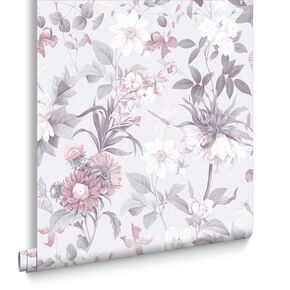 Flourish Heather Wallpaper, , large