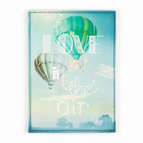 Love Is In The Air Printed Canvas Wall Art, , large