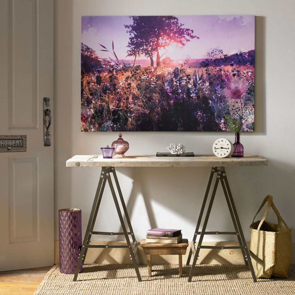 Layered Landschap Printed Canvas, , large