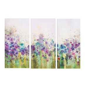 Watercolour Meadow Printed Canvas Wall Art, , large